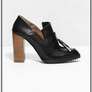 & Other Stories Italy $195 Black Pumps NWOB 39